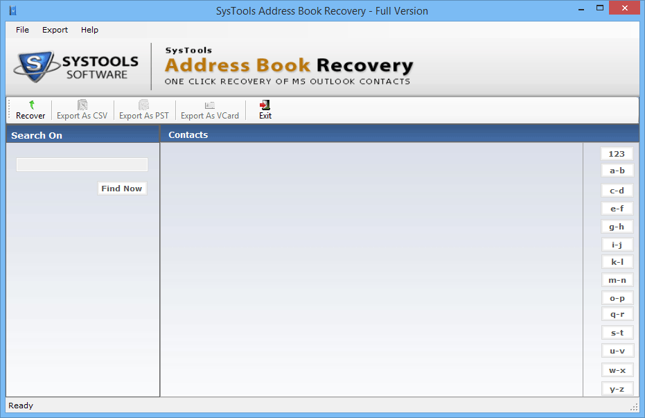 address book recovery wizard